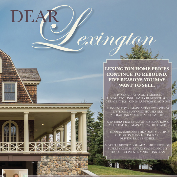 MONTHLY AD CAMPAIGN FOR FINE LEXINGTON HOMES