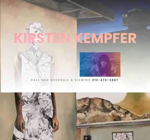 WEBSITE FOR ARTIST KIRSTEN KEMPFER