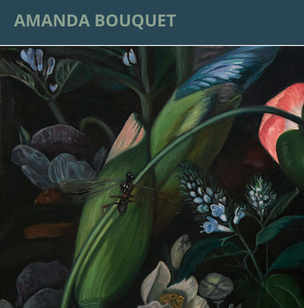 WEBSITE FOR ARTIST AMANDA BOUQUET